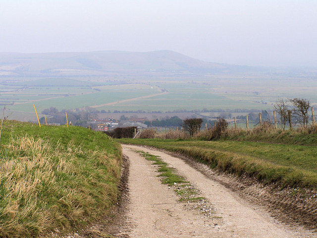 Track to Iford from Breaky Bottom