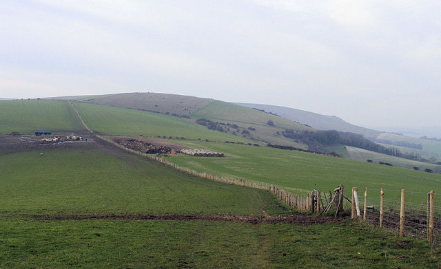 Front Hill, Iford Hill and Swanborough Hill