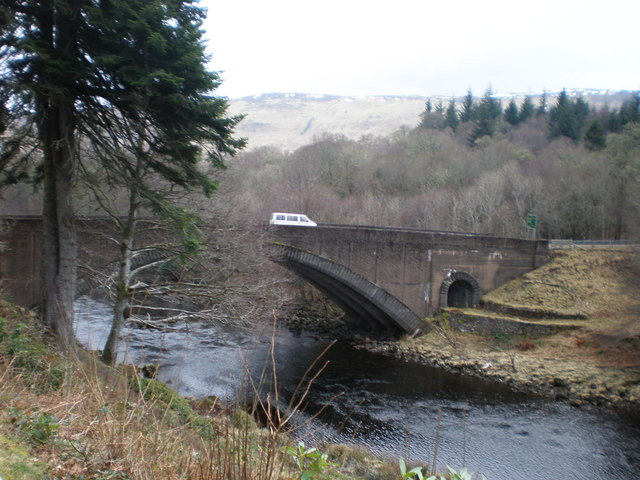 A82  Bridge Crossing Invergarry River at Invergarry