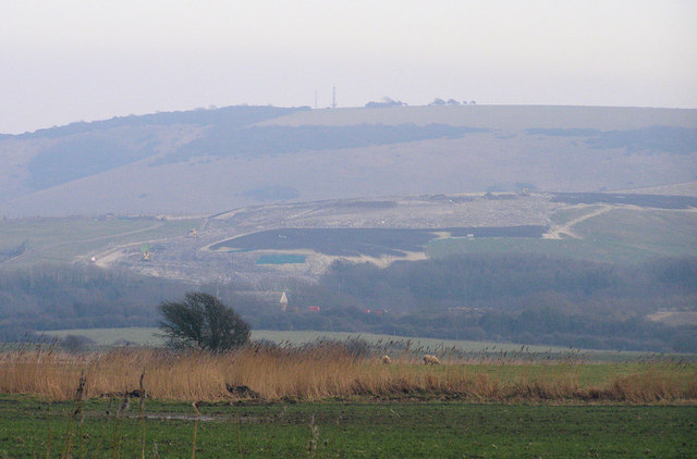 Beddingham Land Fill Site from Rodmell