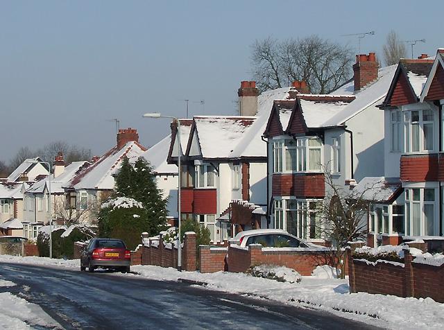 Semi-detached housing, Penn, Wolverhampton