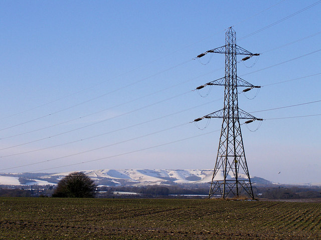 Pylon near Hankham