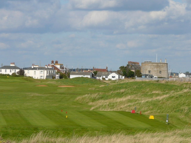 Martello Tower and Golf Course at Felixstowe Ferry