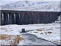 SD7679 : A Land Rover heads for Gunnerfleet Farm by John Lucas