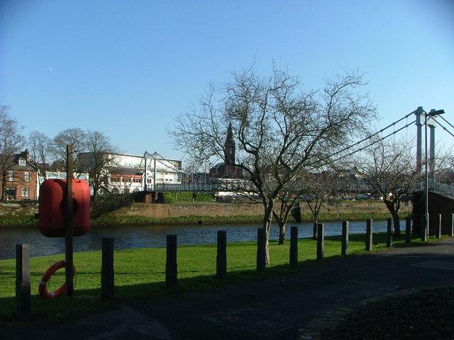 Footbridge across the Nith at Dumfries