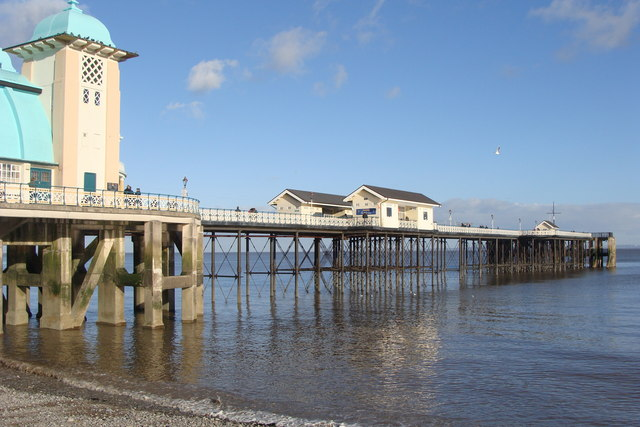 Penarth Pier from the beach