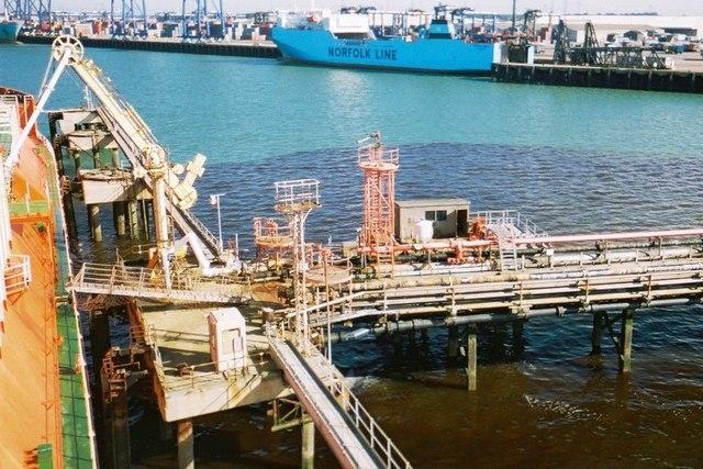 Felixstowe oil jetty