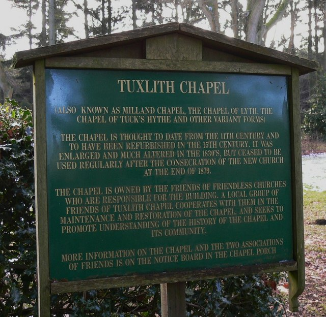 Tuxlith Chapel Information Notice