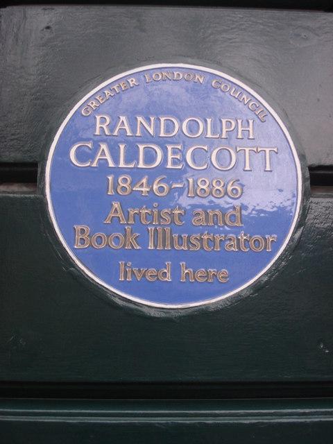 Photo of Randolph Caldecott blue plaque