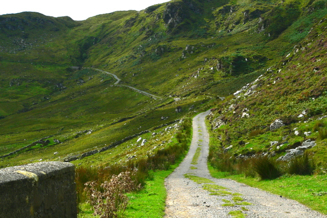 Mountainside Road At Maghera Joseph Mischyshyn Cc By Sa