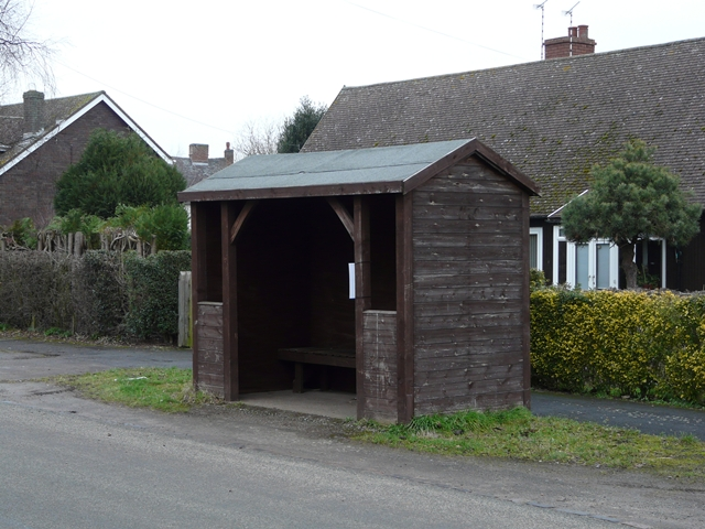 Bus shelter at Hamstall Ridware