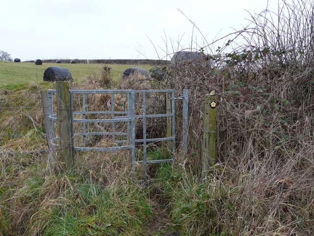 Gate on footpath to Cowley Hill