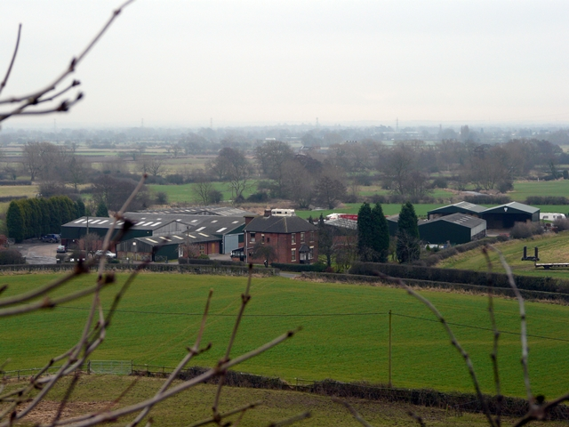 Blythe House Farm from footpath to Cowley Hill