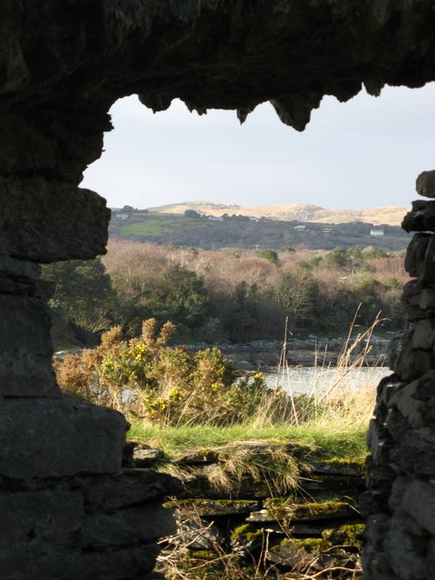 View from inside Dunboy Castle towards Drom