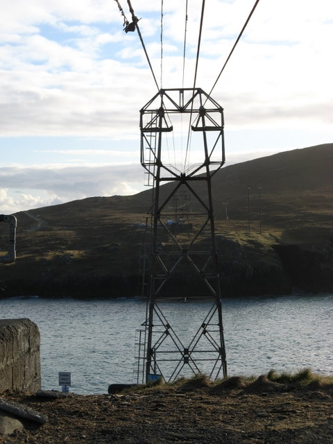 The first post of the cable car to Dursey Island