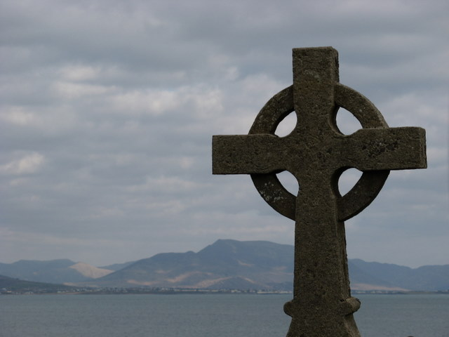 Celtic cross at Ballinskelligs Priory