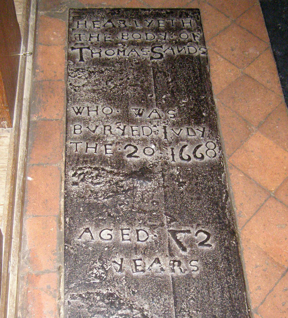 Iron Grave Slab, St Dunstan's Church, Mayfield