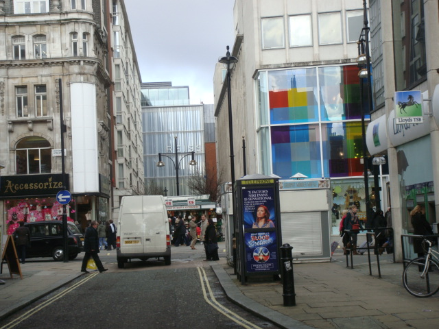 Colourful windows on Oxford Street