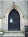 SD9504 : St Thomas the Apostle Church, Leesfield, Doorway by Alexander P Kapp