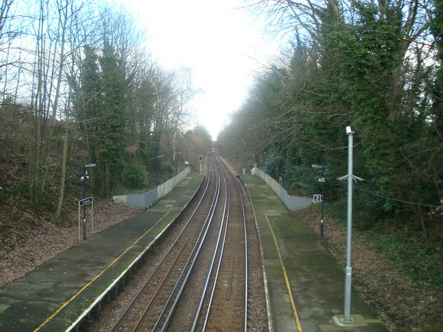 Railway line north of Sundridge Park Station