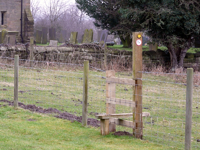 Stile near Hamstall Ridware Church