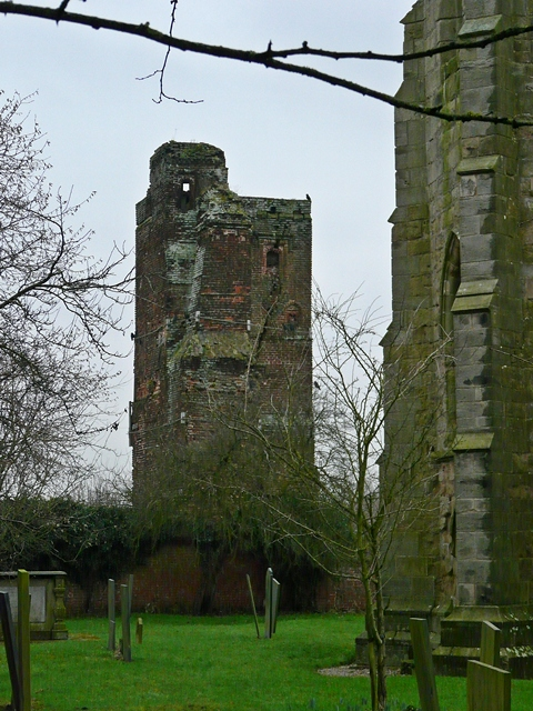 The Tower of the now ruined Hamstall Hall