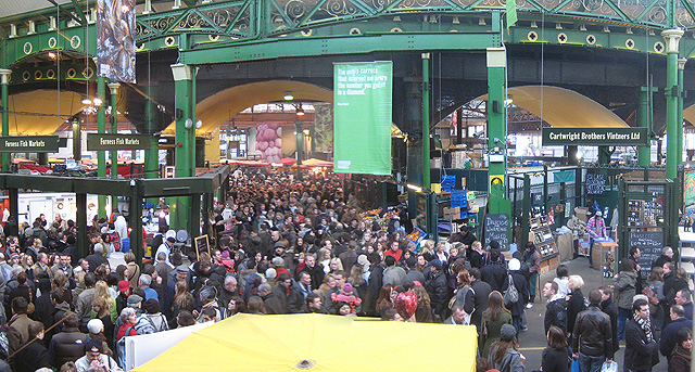 Borough Market on a busy Saturday