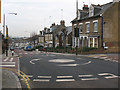 TQ4077 : Mini-roundabout and Zebra crossing on Westcombe Hill by Stephen Craven