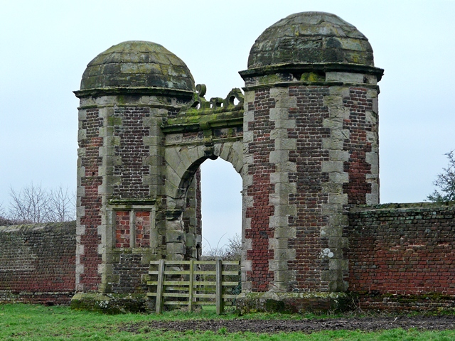Gateway to the now ruined Hamstall Hall