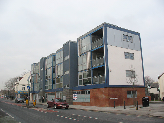 New block on the corner of Fingal Street, Greenwich