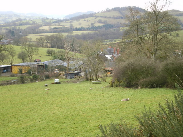 Bodynfoel farm from above