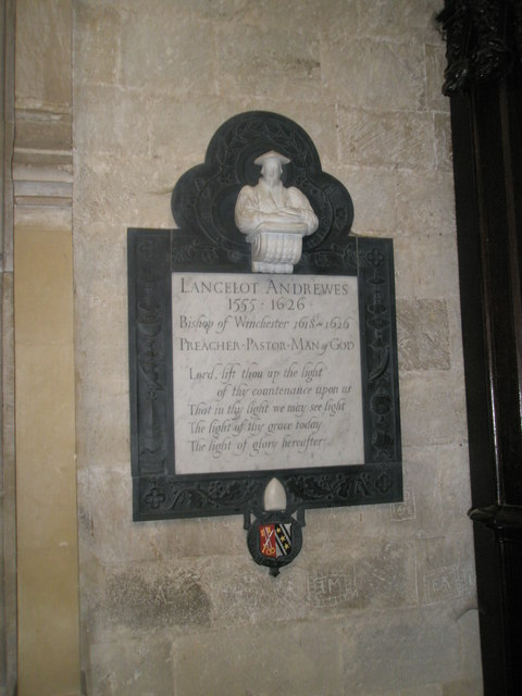 Memorial to a noted preacher at Winchester Cathedral