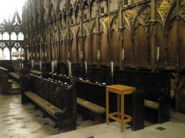 Choir stalls at Winchester Cathedral