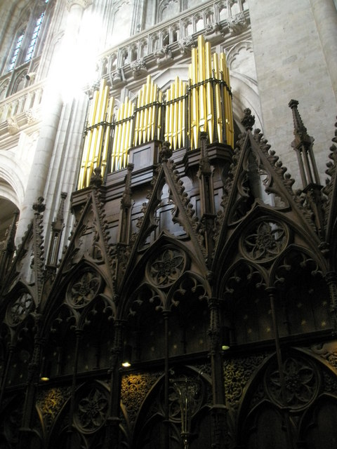 The organ at Winchester Cathedral