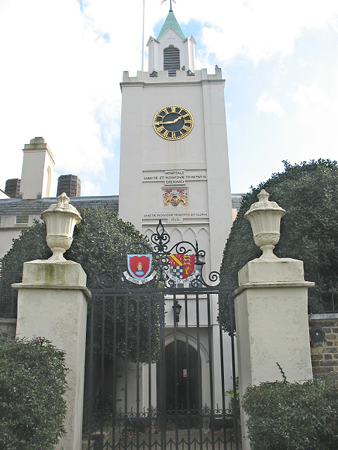 Riverside entrance to Trinity Hospital, Greenwich