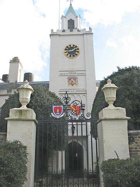 Riverside entrance to Trinity Hospital, Greenwich