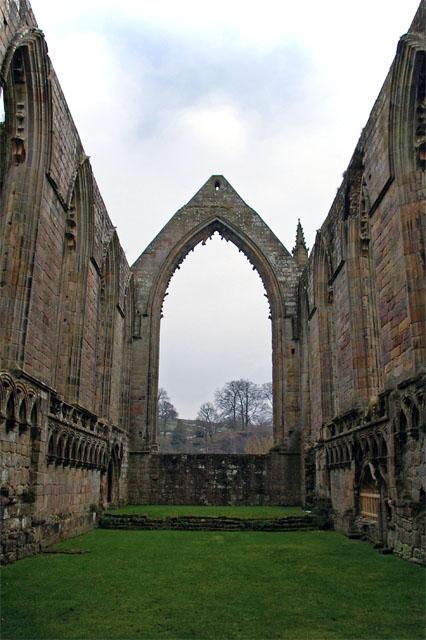 Chancel - ruins of Bolton Priory church
