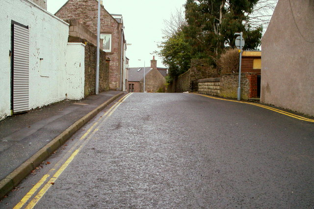 Canmore Street, Forfar near its junction with Queen Street