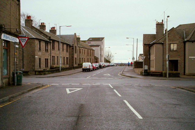Roberts Street, Forfar at its junction with North Street