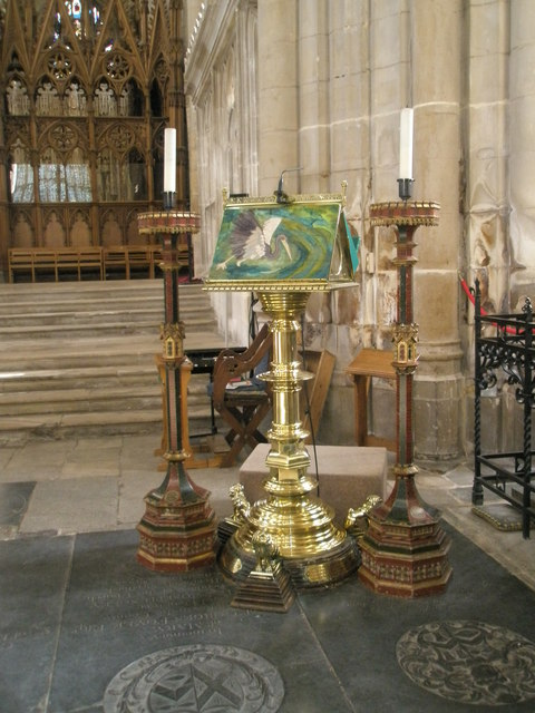 The lectern at Winchester Cathedral