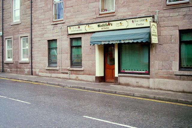 Saddler's of Forfar Shop in North Street, Forfar