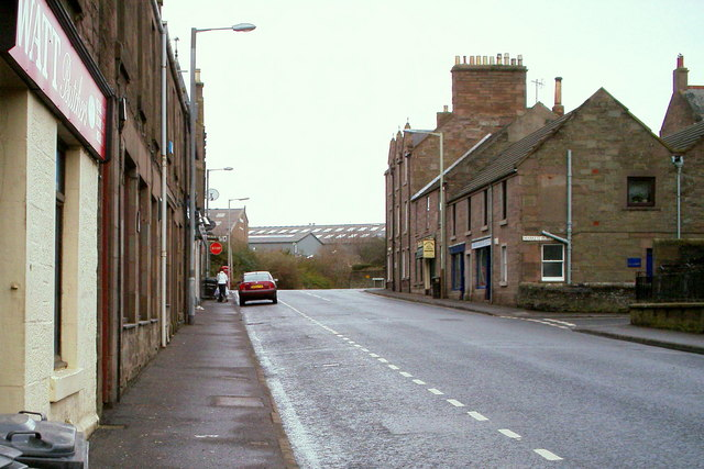 North Street, Forfar, looking north to its junction with Market Street