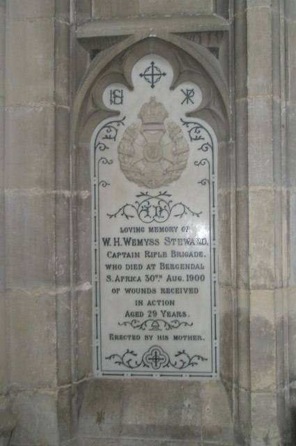 A mother's tribute on the north wall at Winchester Cathedral