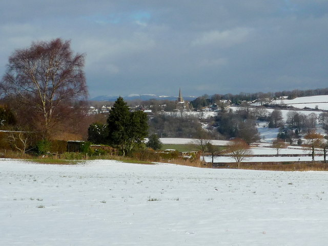 View towards Linton and the Malvern Hills beyond