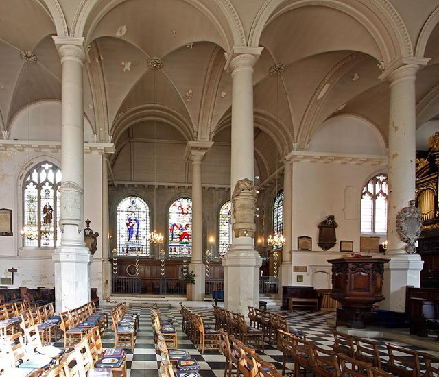 St Sepulchre without Newgate, Holborn Viaduct, London EC1 - View to north arcade