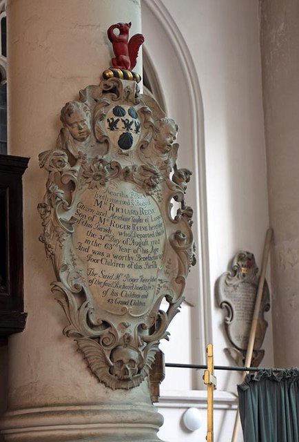 St Sepulchre without Newgate, Holborn Viaduct, London EC1 - Wall monument