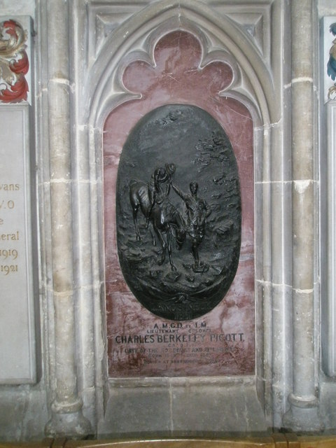 Intriguing memorial on the north wall at Winchester Cathedral