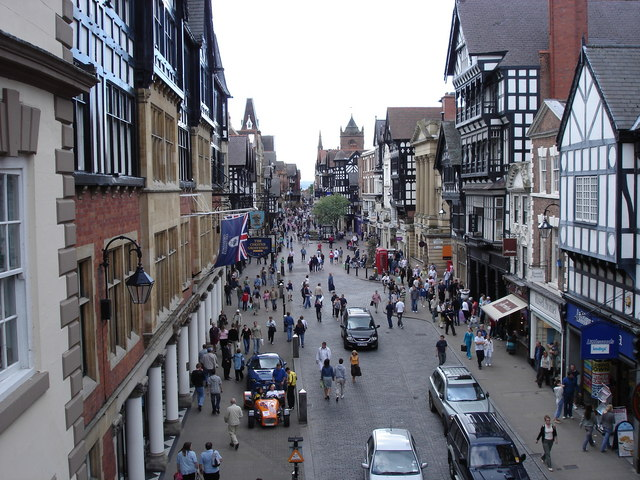 Chester - Eastgate Street from the City Wall