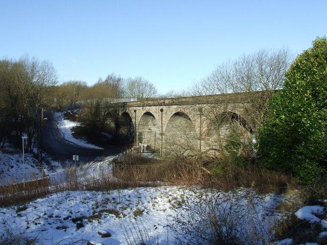 Disused railway viaduct