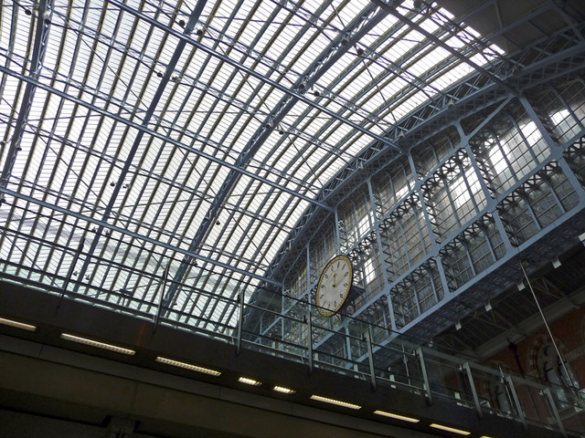 Roof and clock, St Pancras Station, London